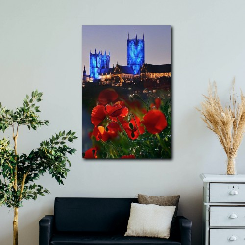 Marilyn Shepley Blue Cathedral Poppies (A3)
